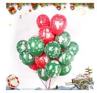 Wholesale Latex Free Balloons Freeshipping - Balloon Christmas Decorations 12 inch Latex Cartoon Balloon Party Wedding Birthday Party Supplies Kids Toys DHL Free Shippin