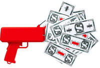 Wholesale Gift Toys Gun - 2017 Cash Cannon Money Gun Decompression Fashion Toy Make It Rain Money Gun With Battery Christmas Gift Toys