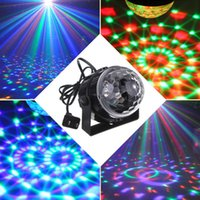 Оптовый-oobest RGB 3W Crystal Magic Ball Led Stage Lamp DJ KTV Дискотека лазерная световая проекция Sound Control Рождественский проектор