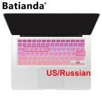Dustproof Silicone Laptop Keyboard Gradient Color Ukraine Russian Silicone US Keyboard Cover For Macbook Air 13 Macbook Pro 13 15 17 Retina Skin Protector Stickers