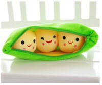 Niños Juguetes de peluche para niños Cute Pea Stuffed Plant Doll Girlfriend Kawaii Gift Girls queen almohada cojines regalos creativos