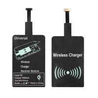 receptor qi s5 al por mayor-Módulo de receptor de cargador inalámbrico QI universal; Adaptador de receptor de carga inalámbrico micro USB QI para Android XiaoMI SONY, HTC, Samsung S5 S4