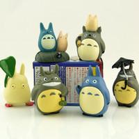 ingrosso azione figura hayao miyazaki-Totoro Miyazaki Hayao 10 pz / set 4 ~ 6 cm Il mio vicino PVC Action Figure Modello Giocattoli Bambole per la raccolta per i regali