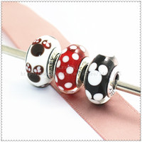 Wholesale European Bead Sterling Core - Hot 3pcs  lot S925 Sterling Silver Screw Core Lampwork Murano Glass Beads Fit European Pandora Style charm Bracelets & Necklaces