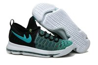 Wholesale Plush Birds - KD 9 Birds of Paradise Black Clear Jade men women kids sneakers Kevin Durant Basketball shoes free shipping 843392-300 size 36-46