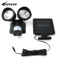 Wholesale Dual Outdoor Detector - Wholesale- Zonyee 22 LED Dual Security Detector Solar Spot Light Motion Sensor Outdoor Floodlight