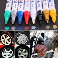 Wholesale Permanent Paint Pens - 2015 New Hot 13 Colors Tyre Permanent Paint Pen Tire Metal Outdoor Marking Ink Marker Creative