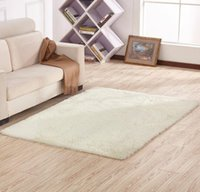 Wholesale European Floor Rugs - Floor Rug Area Soft Solid Anti-skid Area Carpets for Living Dining Bedroom Fluffy Flokati Shaggy Home Mats Rug High Quality