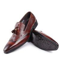 Wholesale Footwear Mens Formals - Luxury Brand Moccasins Genuine leather Designer Mens Dress Shoes Classic Bullock Formal Oxford Shoes For Men Footwear Wedding