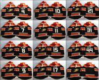 nhl jersey barato al por mayor-2016 NHL Stanley Cup Hombres Anaheim Ducks Cheap Hoodies 8 Teemu Selanne 31 Andersen 15 Ryan Getzlaf etc Hockey Jersey cosido Sudaderas
