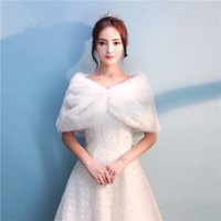 Wholesale Beautiful Shawls - Beautiful 2018 Fur Bridal Wedding Jackets Winter Warm Faux Fur Bridal Shawl Bolero Wedding Bridal Wraps For Prom Wedding
