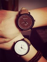 Wholesale Harajuku Pins - Korean Harajuku style matte leather belt tide table couple watch fashion handsome T student table watches