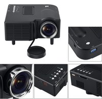 Wholesale New Home Theater - New LED Mini Projector Home Theater Cinema VGA HDMI USB SD GM40 Multimedia & HD 1080P Projectors