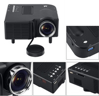 Barato Projetor Home Multimídia-New LED Mini Projector Home Theater Cinema VGA HDMI USB SD GM40 Multimédia HD 1080p Projetores