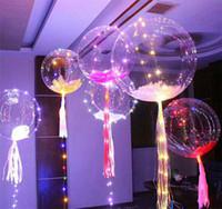 воздушные шары оптовых-Light Up Toys Светодиодные огни String Flasher Lighting Balloon Kids Волновой шар Гелий Воздушные шары Рождественский Хэллоуин Свадебная вечеринка Украшение YFA13