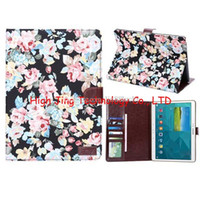 Wholesale Galaxy S Book Case - For Galaxy Tab S T800 Tab S2 T815 Smart Folding Folio Book Magnetic flora Leather Case for Galaxy Tab E 9.6 T560