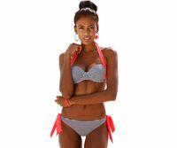 Wholesale Purple Halter Top Bikini Swimwear - 2016 New Sexy Bikinis Women Swimsuit Push Up Bikini Set Bathing Suit Halter Top Buiqini Summer Beach Wear Plus Size Swimwear XXL