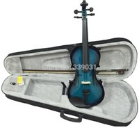 Wholesale N A O M I Acoustic Violin Fiddle Case Bow Rosin BLUE BLACK VIOLIN NEW