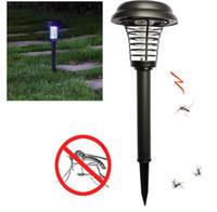 luz solar del csped para el jardn anti mosquito killer linterna de lmpara led light solar pest killer modos recargables lampada