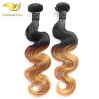 couleur remy indien 27 achat en gros de-Usine Deux Tons Couleur Péruvienne Malaisienne Indienne Brésilienne Ombre Extensions de Cheveux Humains T1B 27 Tissage De Cheveux