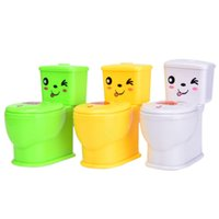 Wholesale Tricky Toilet Toy - Wholesale- Play Fun Novelty Spoof Gadgets Toy Super Funny Water Spray Toilet Tricky Kuso Toys For April Fool's Day Children Gag toys 2017