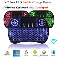 Wholesale remote for xbox - Backlit Air Mouse Wireless Mini Keyboard with Touchpad Rii i8 Backlight Remote Control for Android Smart TV Box Mini PC HTPC Xbox 360 PS3