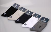 Wholesale Colour Socks - 50pairs HJC polo Brand boutique business plain colour flat cotton socks