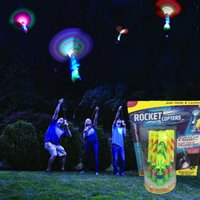 Wholesale Umbrella Packaging - LED Arrow Helicopter LED Amazing Arrow Flying Helicopter Umbrella parachute Kids Toys Christmas opters kids toys Chrismas gift with package