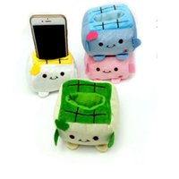 Wholesale Phone Holder Tofu - Holder Cute Cartoon Tofu Plush Protect Block Seat Stand Mobile Cell Phone