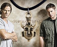 Wholesale Supernatural Dean Winchester - Amulet Pendant Supernatural Jensen Ackles Dean Amulet Necklaces Statement Movie Winchester Protection Necklace New Arrival Fashion Amulet
