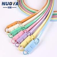 Wholesale Pu Belt Manufacturers - Manufacturers selling wholesale PU leather belt belt buckle without hole smooth lady candy colored women's leather belt