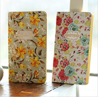 Vente en gros - 1 Pcs / Lot Vintage Notebook Papier Kraft Livre de fleurs Mini journal portable Pocket Notepad Papeterie Office School Supplies 6235