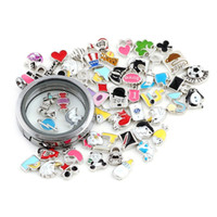 Wholesale Wholesale Charms For Living Lockets - 100pcs lot Free Shipping Charms Mix Alloy DIY 2016 Floating Charms For Glass Living Memory Locket