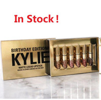 Wholesale One Birthday - Kylie Birthday Edition Lip Gloss collection kylie jenner lip kit Matte liquid lipsticks Lipstick Kylie set with 6pcs one box best gift
