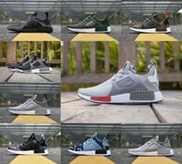 Wholesale Mens Black Leather Casual Shoes - Real quality 2017 Summer Sneakersnstuff x NMD R1 PK Datamosh Primeknit Basf Boost for Women Mens XR1 Runner Casual Running Shoes 36-46