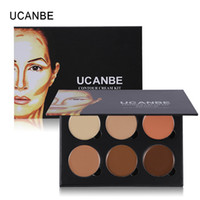Wholesale Whitening Kit Light - 6 Colors Highlight Contour Palette Light To Medium 3D Contouring Makeup Corrector Concealer Cream Kit Make Up Cosmetics