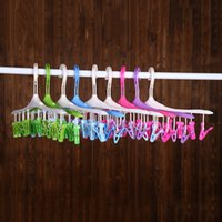 Wholesale quality clothes hangers for sale - Group buy Plastic Clothes Rack Eco Fiendly Multi Function Wind Coat Hanger Degree Hook Design Hangers High Quality ld B