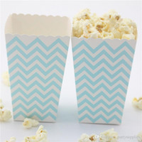 Mini Popcorn Scatole Rosa Rosa Blu a strisce Candy buffet favore del partito bottino Paper Bags Wedding Decor rifornimenti di compleanno dolce regalo di accessori di sicurezza