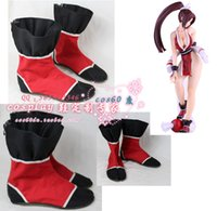 Wholesale Mai King Fighters - Wholesale-THE KING OF FIGHTERS Fatal Fury MAI SHIRANUI Cosplay Boots shoes #cos0205 Halloween Christmas festival