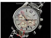 Wholesale Mens Timewalker Watches - Brand New Timewalker 43MM Stainless steel Bracelet Automatic Mens Sport Watch silver Dial Men's Wrist Watches Transparent Back