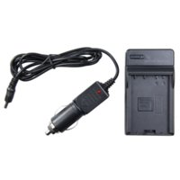 Video vendita calda Camera Battery Car Charger LP-E8 EOS Kiss X4 X5 Rebel T2i T3i EF-S 550D 600D LED Battery Monitor