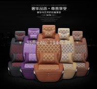 Wholesale Luxury Cover Seats - Grace car seat cover luxury full set car seat cushion fashion design icesilk car seat cushion for 5 seats