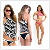 Wholesale Mini Swimsuits For Women - Release explosion models sexy rhombus mesh bikini swimsuit bathing suit vest factory direct DFMBK55 hot sale mini bikini swimsuits for women