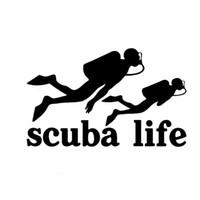 Wholesale Die Cut Sticker Vinyl - New Style Scuba Life Dive Diving Car Auto Vinyl Die-Cut Decal Sticker Car Styling Car Decoration Jdm