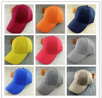 Baseball Snapback Cap Blank Thickening réglable Pure Color Classique de travail Publicité Femmes New Cotton Summer Sun Men Ladies Fitted Hat