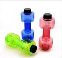 su ısıtıcısı suyu toptan satış-Yeni Tasarım 550 ml Dambıl Fitness Ekipmanları Şekil Su Isıtıcısı Uzay Fincan Meyve Suyu Şişesi Spor Su Şişesi 750mm * 205mm