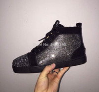 Wholesale Newest Designer Sneakers - Free Shipping Newest Fashion Free shipping crystal men shoes!! Designer men shoes red bottom sneakers