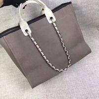 Wholesale Shops Chain Leather - fashion Famous fashion brand name women Shopping Bag Beach bag handbags Canvas Shoulder bag chains of capacity bags