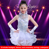 Wholesale Sexy Child Clothing - 4Color 2017New Latin dance dresses children girls sexy sequins tassels rumba Sasa tango samba competition costume Latin practice clothing