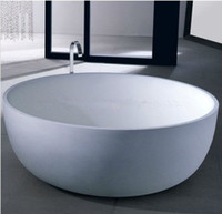 Wholesale 1350 X MM COLLEEN ROUND STONE SOLID SURFACE BATHTUB ARTIFICIAL STONE BATHTUB MATT OR GLOSSY OPTIONAL